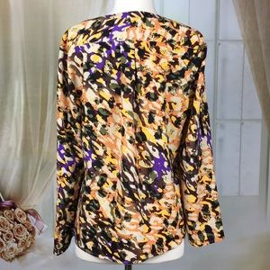 Anne Klein Tops - Anne Klein Abstract Long Sleeved Blouse